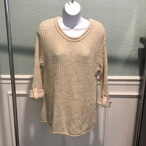 Anthropologie Chunky Sweater with tab sleeves